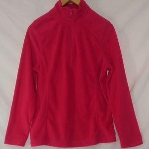 NWOT Exertek 1/4 Zip Pink Fleece Pullover Sweater